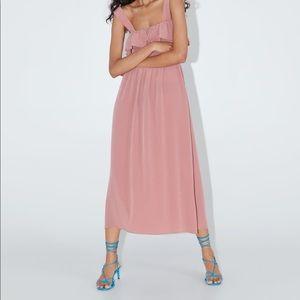 ZARA midi mauve dress